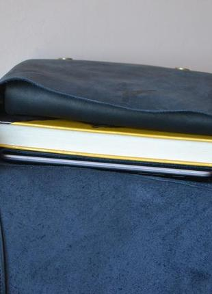 Сумка седло с магнитом из натуральной кожи4 фото