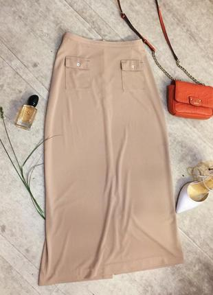 Шикарная юбка с завышенной талией