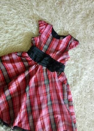 Платье нарядное клёш в клетку 6 лет