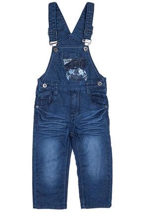 Комбенизон джинсовый на флисе на 122-128р