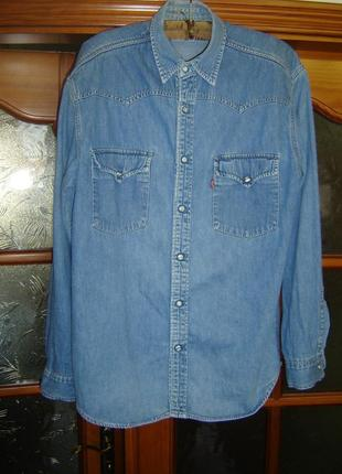 Джинсовая рубашка levi's размер l