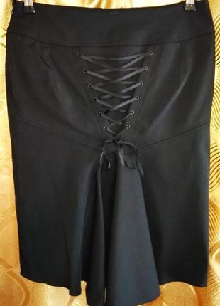 Супер юбка-карандаш со шнуровкой сзади