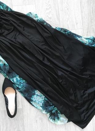 Чёрная юбка макси