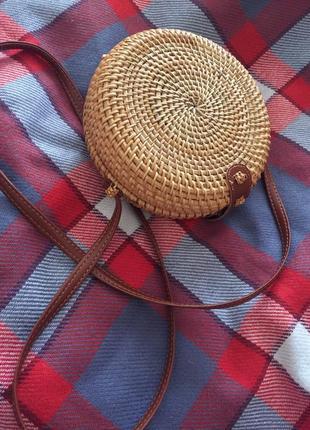 Плетёная сумка4 фото