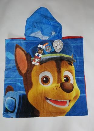Полотенце-пончо щенячий патруль