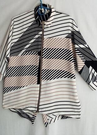 Удлиненная блузка, кардиган оверсайз
