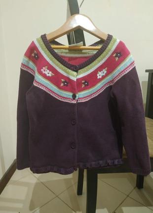 Теплый свитер-кардиган на пуговицах crazy 8, размер 3 года.