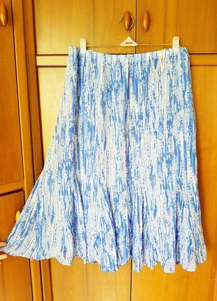 Легкая шифоновая юбка на подкладке размер 54-56.