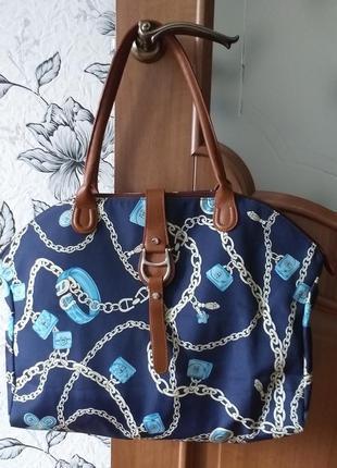 Aigner нейлоновая сумка - шоппер