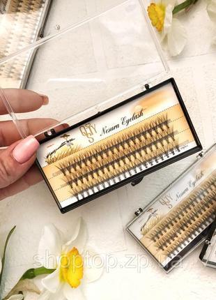 Пучковые ресницы nesura eyelash 11mm