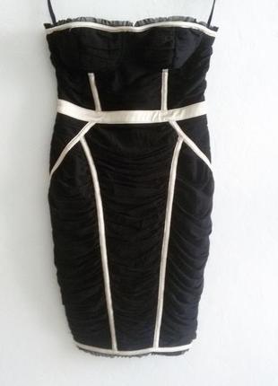 Очень крутое платье в бельевом корсетном стиле с драпировкой