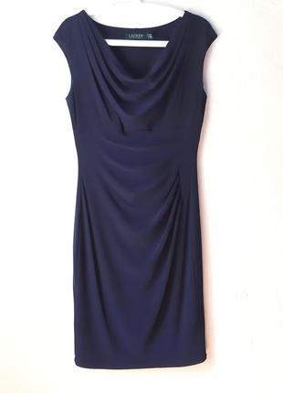 Стрейчевое платье с драпировкой