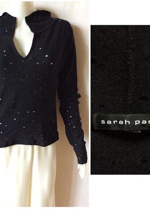 Sarah pacini шерстяной джемпер с капюшоном со сквозными дизайнерскими дырками