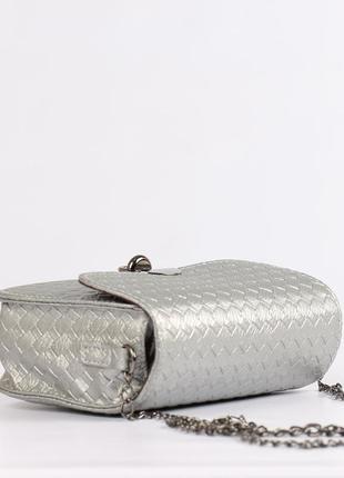 Красивая маленькая сумочка, клатч -серебро4 фото