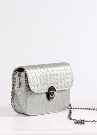 Красивая маленькая сумочка, клатч -серебро
