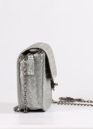 Красивая маленькая сумочка, клатч -серебро3 фото