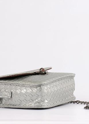 Красивая маленькая сумочка, клатч -серебро5 фото
