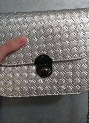 Красивая маленькая сумочка, клатч -серебро8 фото