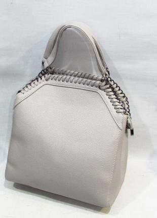 Женская сумка с длинной ручкой 906 серая