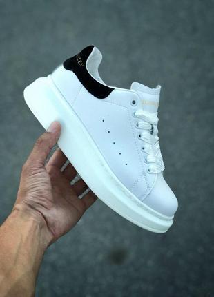 Шикарные женские кроссовки alexander mcqueen white black 😍 (весна/ лето/ осень)