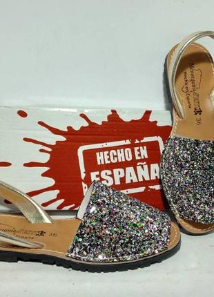 Золотые брендовы босоножки с блеском золото,испания оригинал