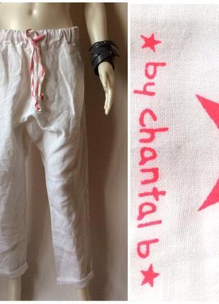 Chantal b итальянские льняные брюки оригинального кроя