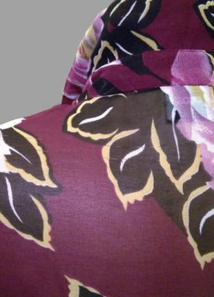 Шикарная шифоновая блуза asos в цветы, большой размер10 фото