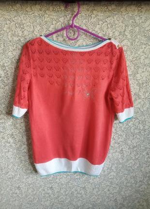 Яркая  свободная блуза-кофточка