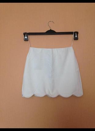 Белая мини юбка top shop