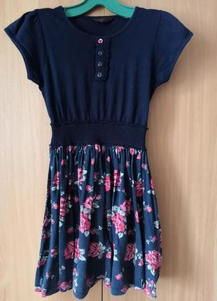 Летнее платье на 12-13 лет, рост 158 см.