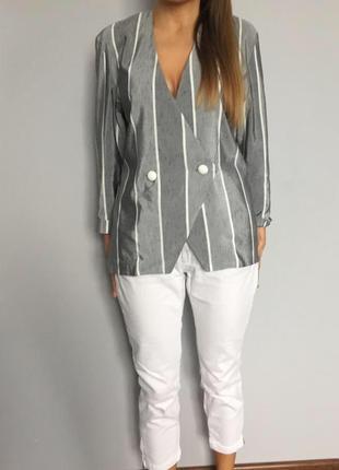 Мега стильный пиджак в полоску