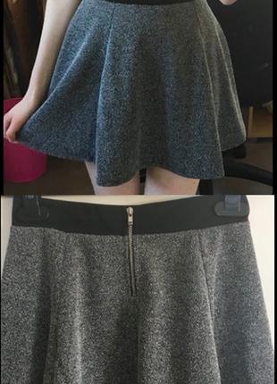 Серая юбка-солнце h&m3 фото