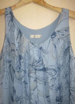 Обалденный сарафан  платье из натурального шелка италия длина в пол