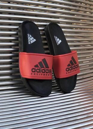 Шикарные мужские сланцы на лето adidas red 😍 (шлёпки/ тапки/ шлёпанцы/ тапочки)
