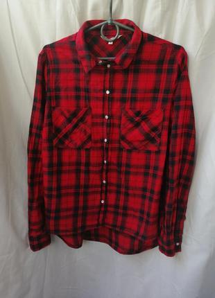 Красная рубашка в клетку клетчатая рубашка