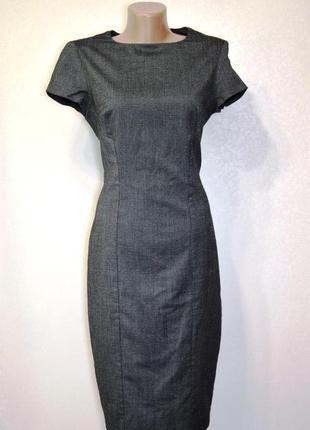 Платье футляр деловое офисное приталенное по фигуре zara