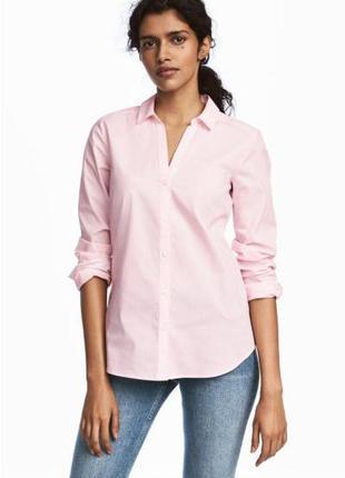 Нежно розовая рубашка хс-с(36) h&m
