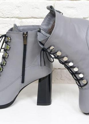 Кожаные обалденные ботинки осень-зима
