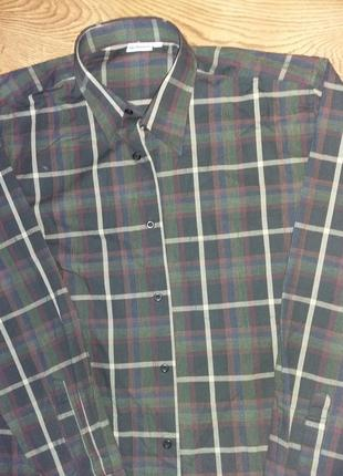 Стильная мужская рубашка в клетку bremo