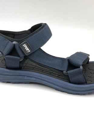 Босоножки сандалии спортивные на липучках мужские restime mwl19222 чёрные, хаки, синие