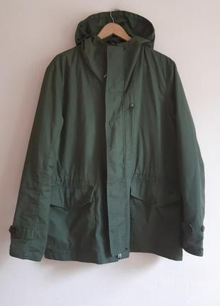 Куртка-парка ветровка цвета хаки мужская ветровка милитари