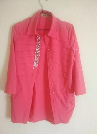 Блуза з перлинами
