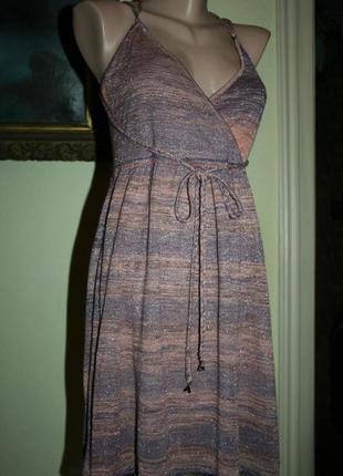 Дизайнерское платье сарафан туника patrizia pepe с фирменными золотыми мухами в декоре