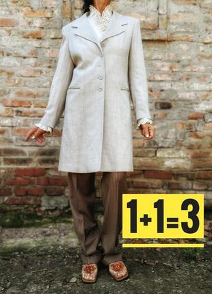 Трендовый пиджак жакет tuzzi из вискозы с шерстью длинный