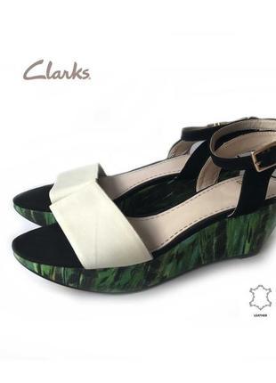 3596 босоніжки clarks uk6d/eu39-38 шкіра сток