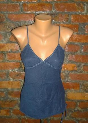 Блуза топ кофточка майка в бельевом стиле topshop  из льна и коттона