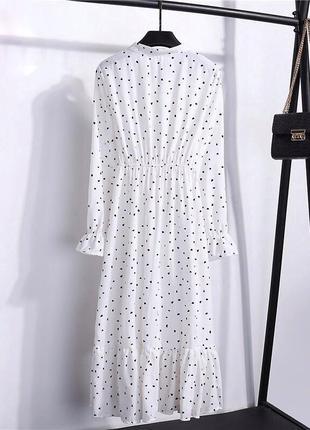 Белое платье в горох2 фото