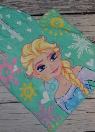 Фирменное детское полотенце пончо девочке махровое холодное сердце эльза дисней