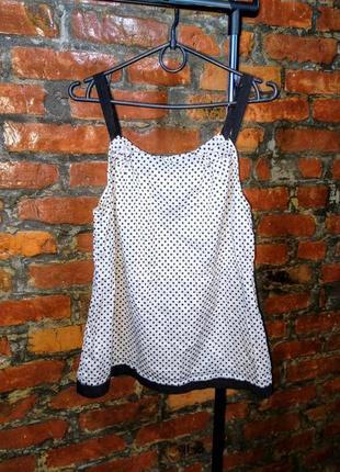 Хлопоковая блуза кофточка в горох из коттона matalan