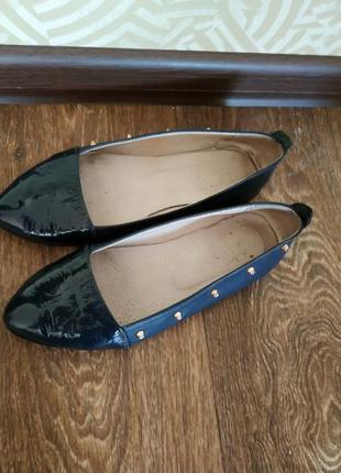 Балетки, туфли натуральная кожа